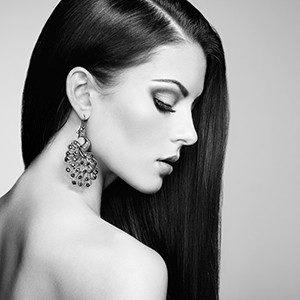 Model with rejuvenated skin