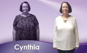 Before and After Weight Loss Cynthia