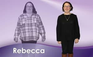 Before and After Weight Loss Rebecca