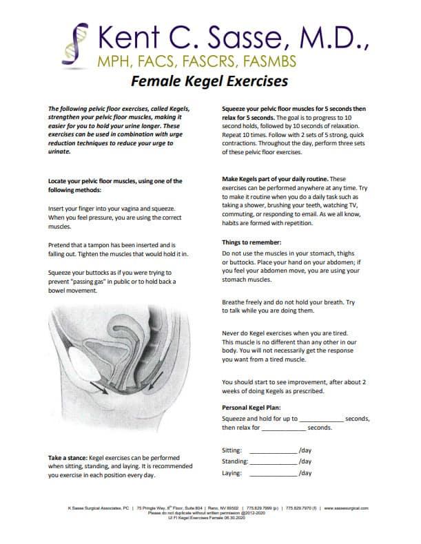 Female Kegel Exercises