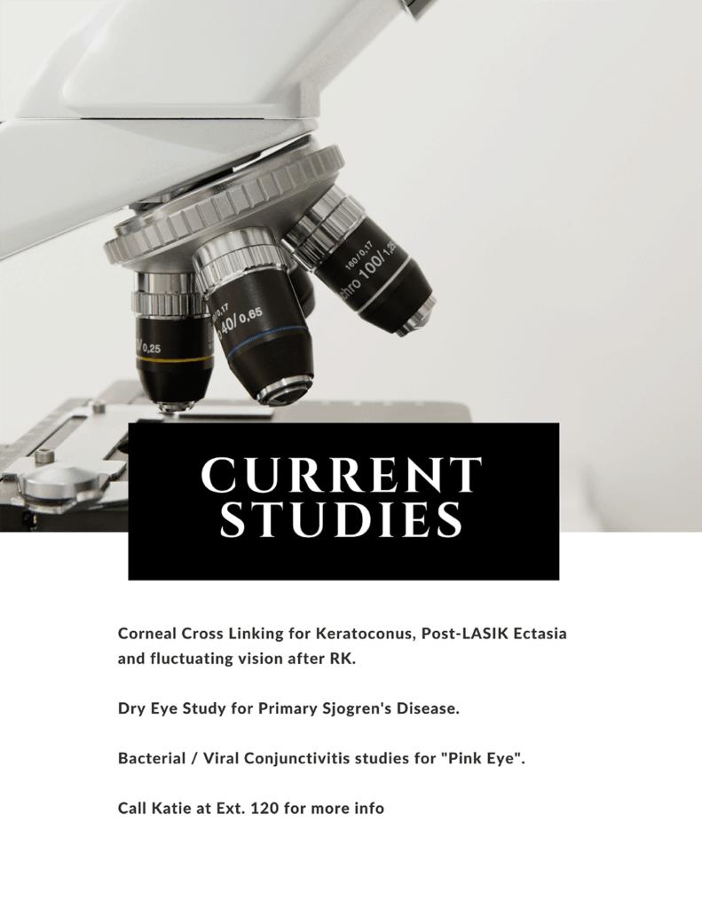 Corneal cross-linking studies