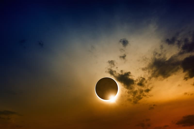 How Can I Protect My Eyes During a Solar Eclipse? - view of sky with full sun eclipse