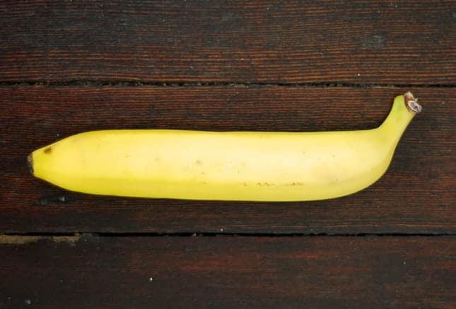 A straight banana